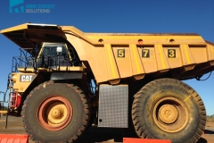 High Density Compressed Natural Gas HDCNG / diesel dual fuel conversion mine truck 473 side view Thumbnail
