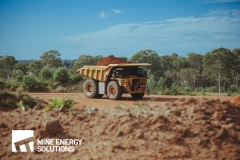 High Density Compressed Natural Gas HDCNG / diesel dual fuel conversion mine truck 473 driving in distance Thumbnail