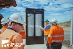 Mine Energy Solutions High Density Compressed Natural Gas HDCNG dual fuel pack demonstration on mine site Thumbnail
