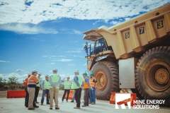 Mine Energy Solutions High Density Compressed Natural Gas HDCNG dual fuel conversion demonstration team chatting on mine site Thumbnail