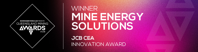 Winner - Mine Energy Solutions - JCB CEA Innovation Award